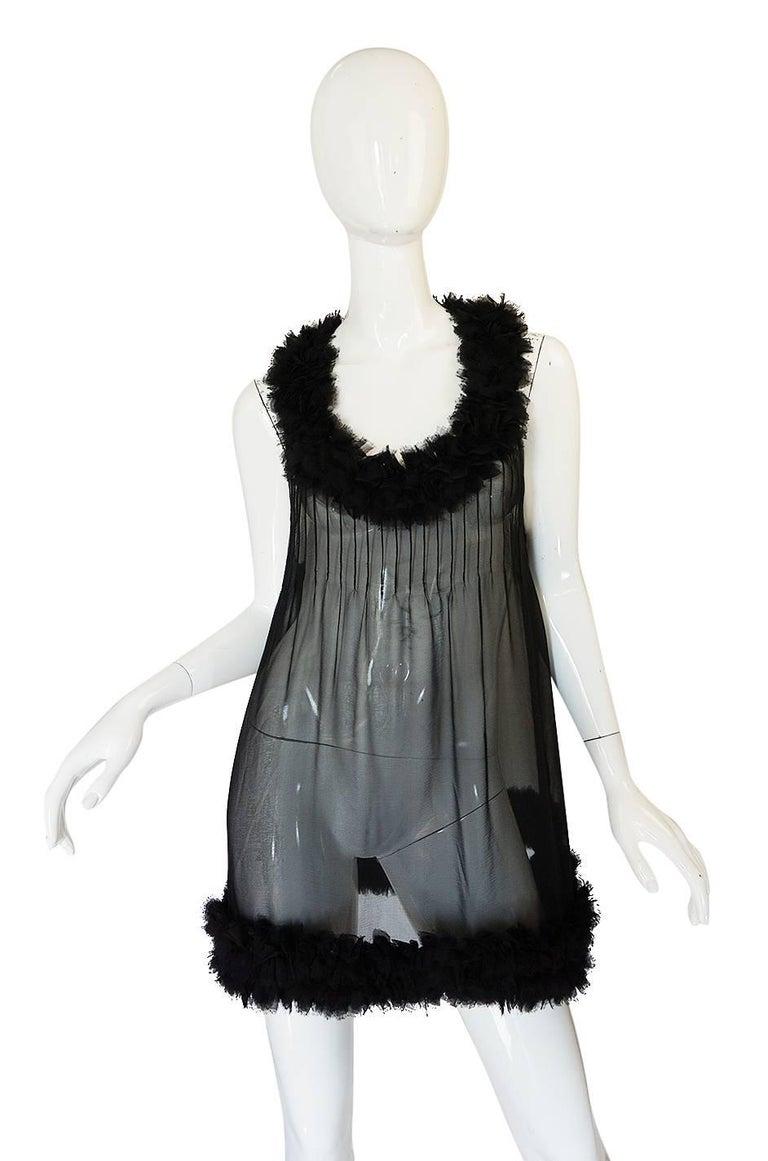 Chanel Runway Semi-Sheer Silk Baby Doll Dress, F/W 2006  For Sale 1