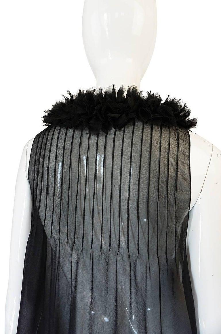 Chanel Runway Semi-Sheer Silk Baby Doll Dress, F/W 2006  For Sale 4