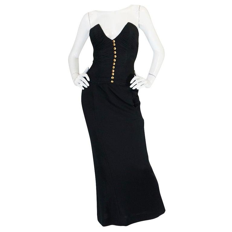 1985 Chanel Silk & Jersey Corset Dress worn by Emily Ratajkowski 1