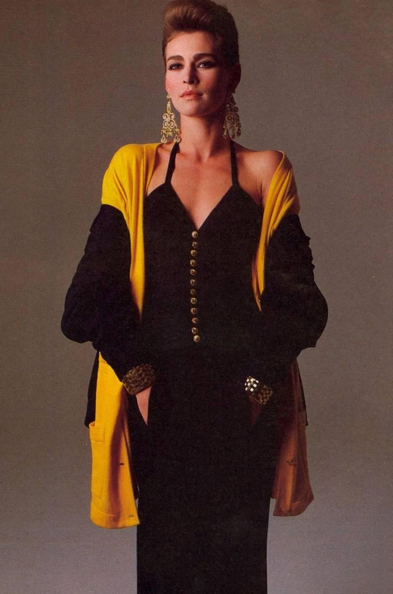1985 Chanel Silk & Jersey Corset Dress worn by Emily Ratajkowski 3