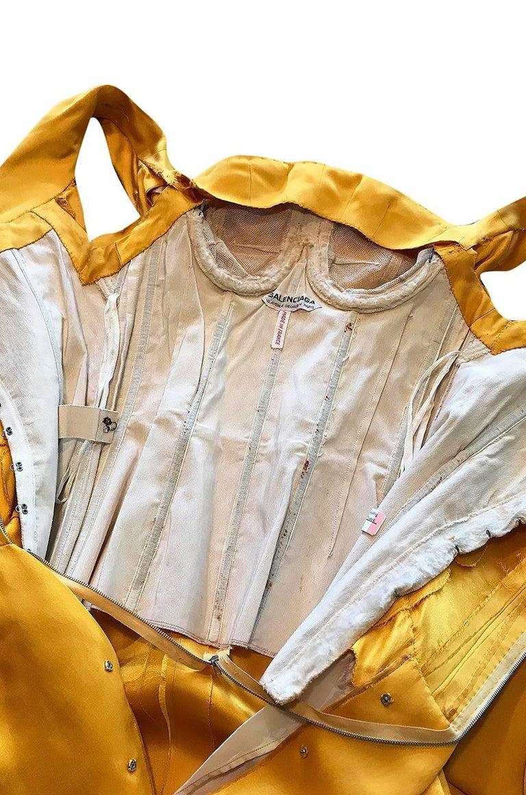 Balenciaga Haute Couture Book Piece Silk Sculpted Gown, 1962  For Sale 4