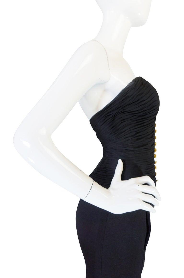 Women's 1985 Chanel Silk & Jersey Corset Dress worn by Emily Ratajkowski For Sale