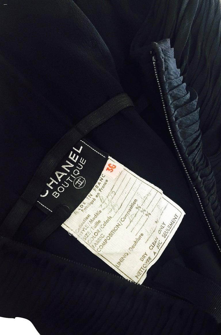 1985 Chanel Silk & Jersey Corset Dress worn by Emily Ratajkowski For Sale 3
