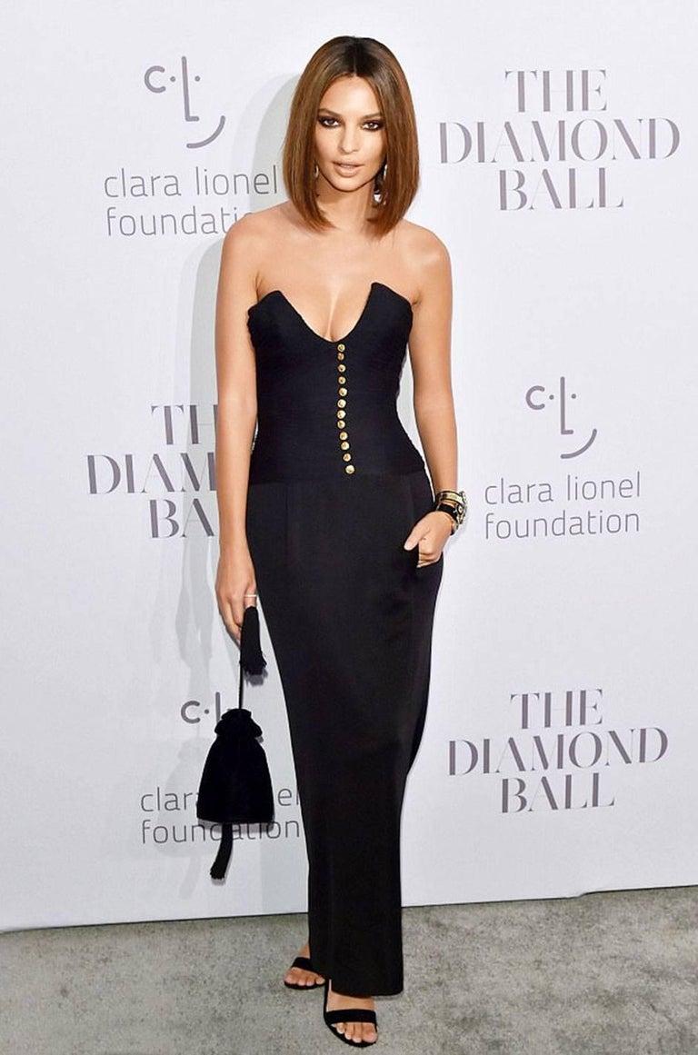 1985 Chanel Silk & Jersey Corset Dress worn by Emily Ratajkowski For Sale 4