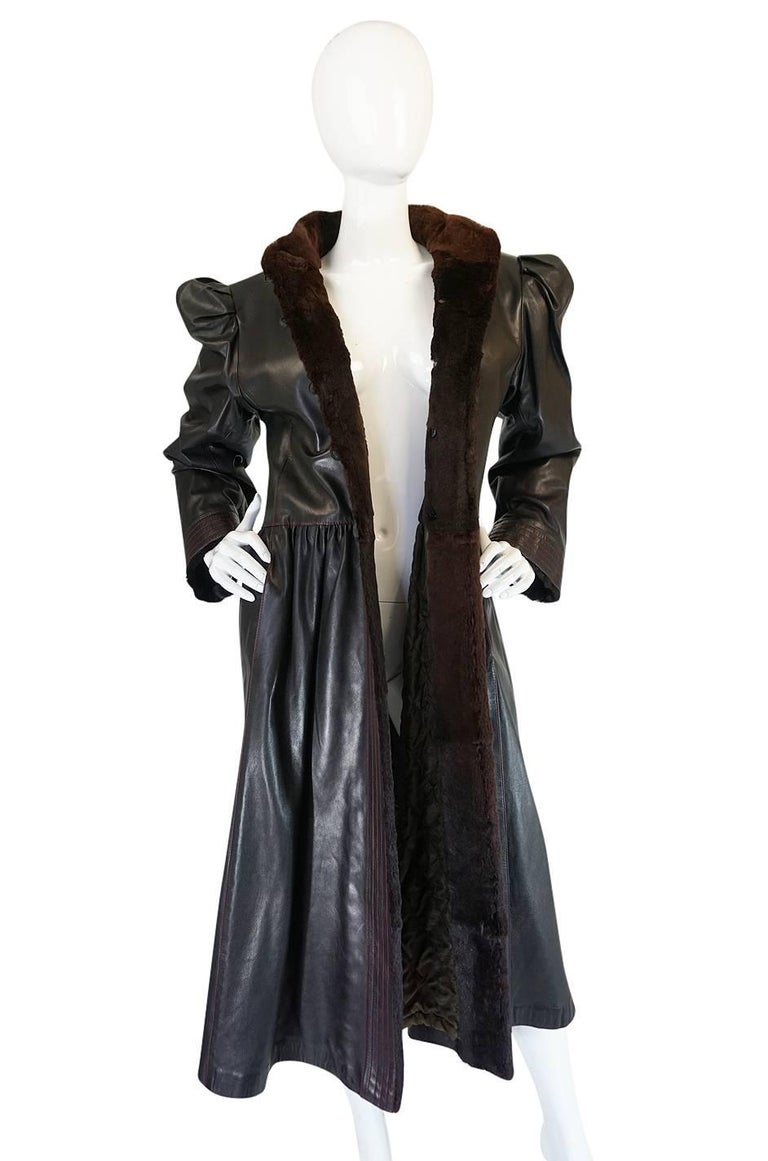 Yves Saint Laurent Russian Collection Fur and Leather Coat, 1976  In Excellent Condition For Sale In Rockwood, ON