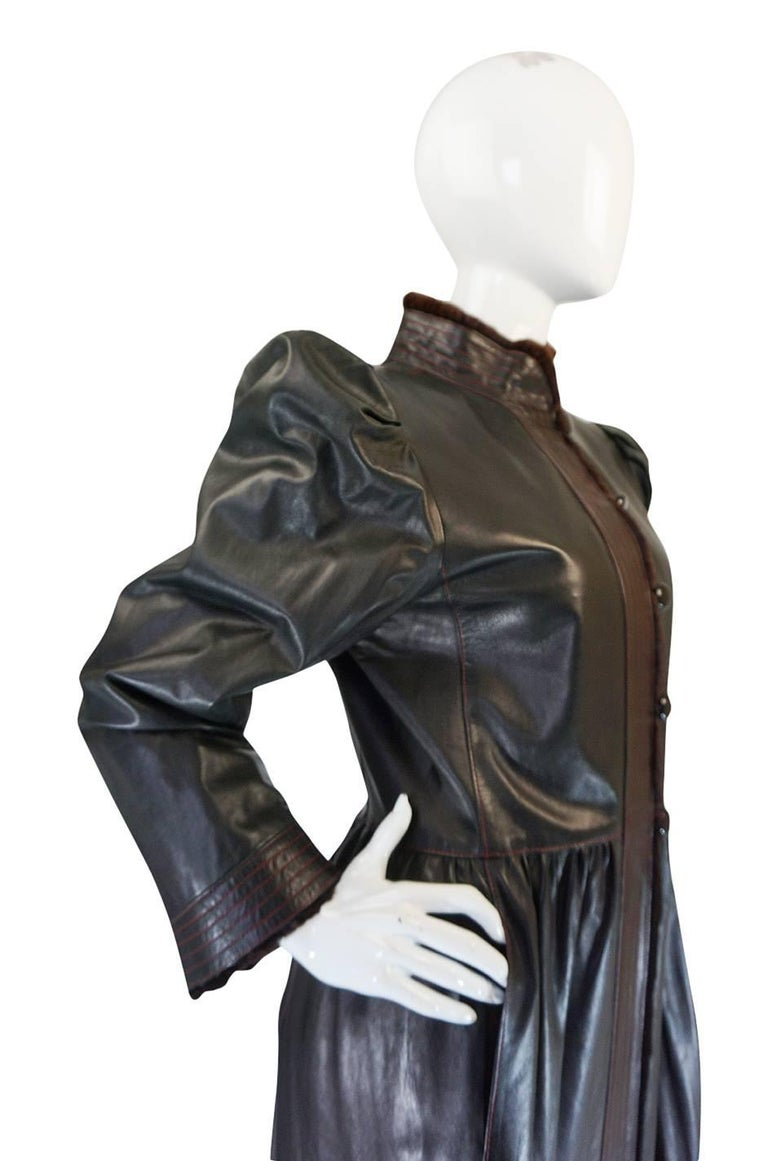 Yves Saint Laurent Russian Collection Fur and Leather Coat, 1976  For Sale 2