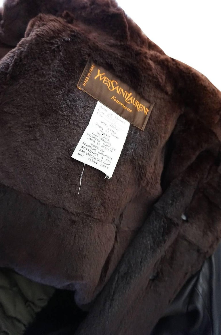 Yves Saint Laurent Russian Collection Fur and Leather Coat, 1976  For Sale 4