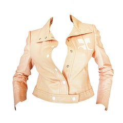 Andre Courreges Documented Vinyl Crop Jacket in Buff, 1971 - 1972