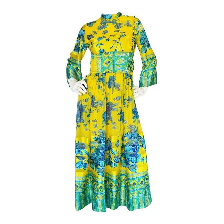 Oscar de la Renta Silk Kimono Dress, 1960s