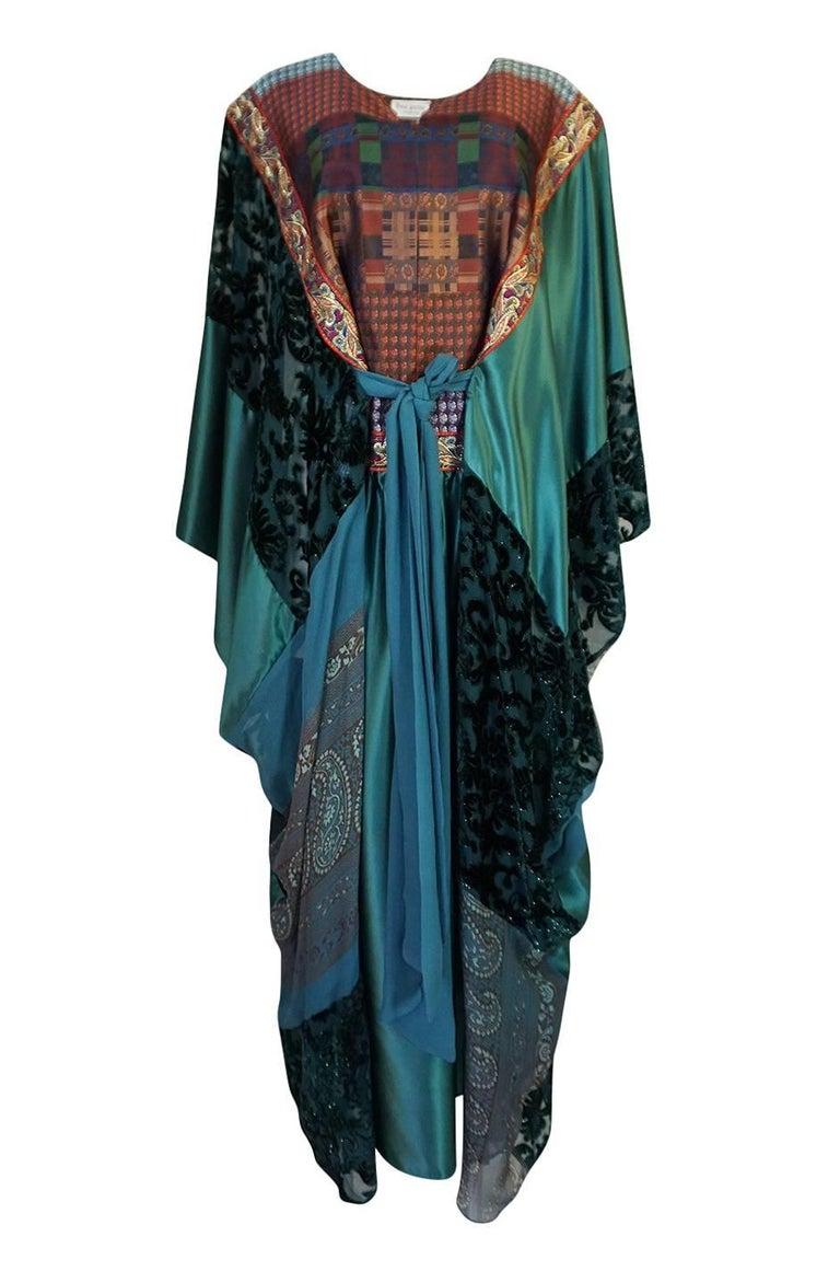Black Thea Porter Museum Exhibited Abaya Caftan Dress, circa 1975  For Sale