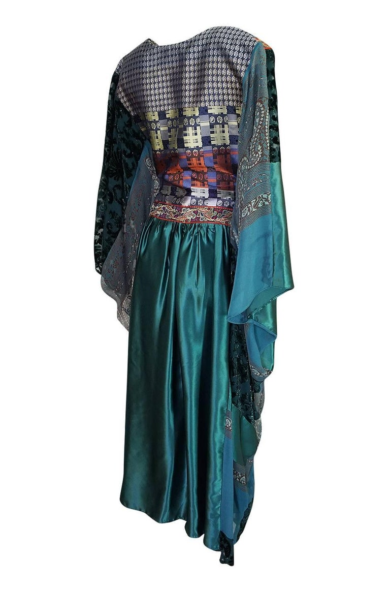 Thea Porter Museum Exhibited Abaya Caftan Dress, circa 1975  In Excellent Condition For Sale In Toronto, ON