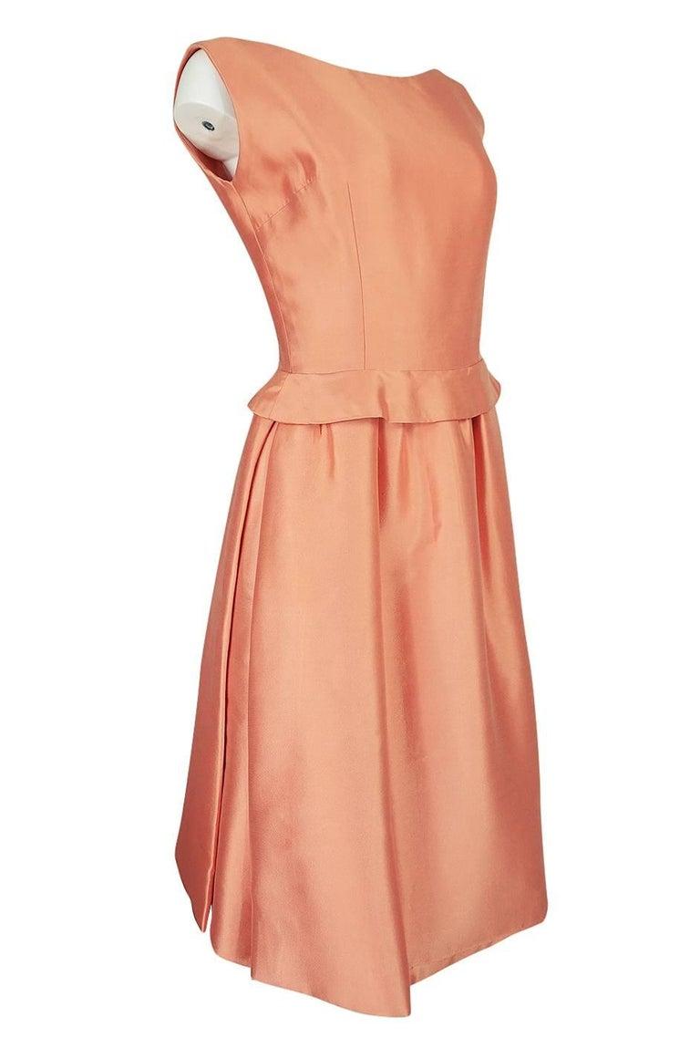 Orange Christian Dior Demi-Couture Peach Silk