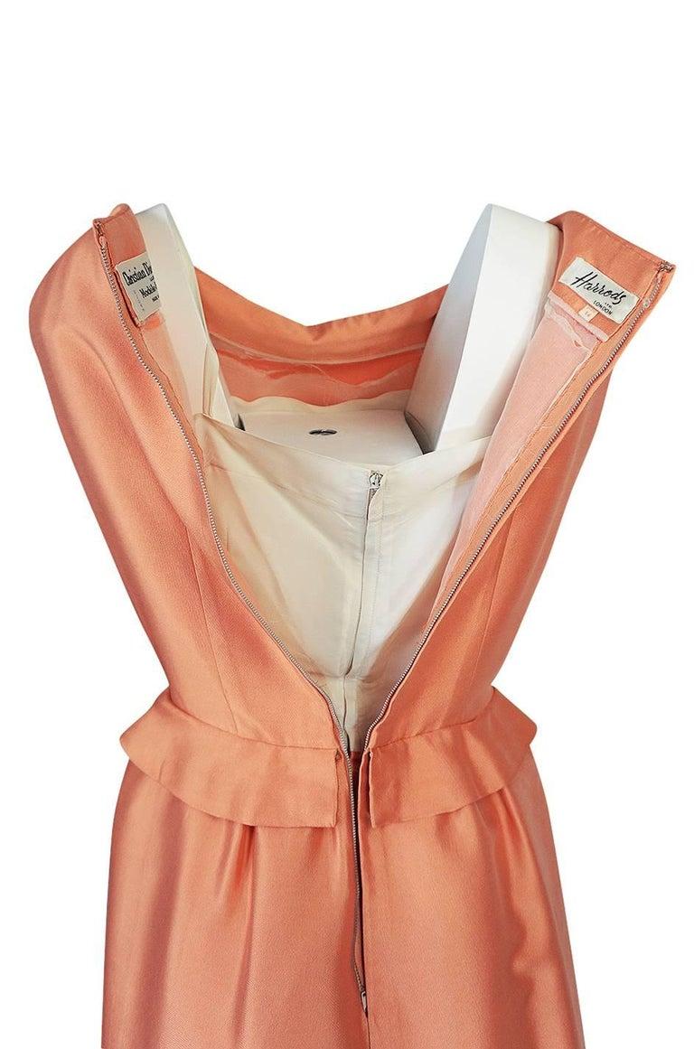 Christian Dior Demi-Couture Peach Silk