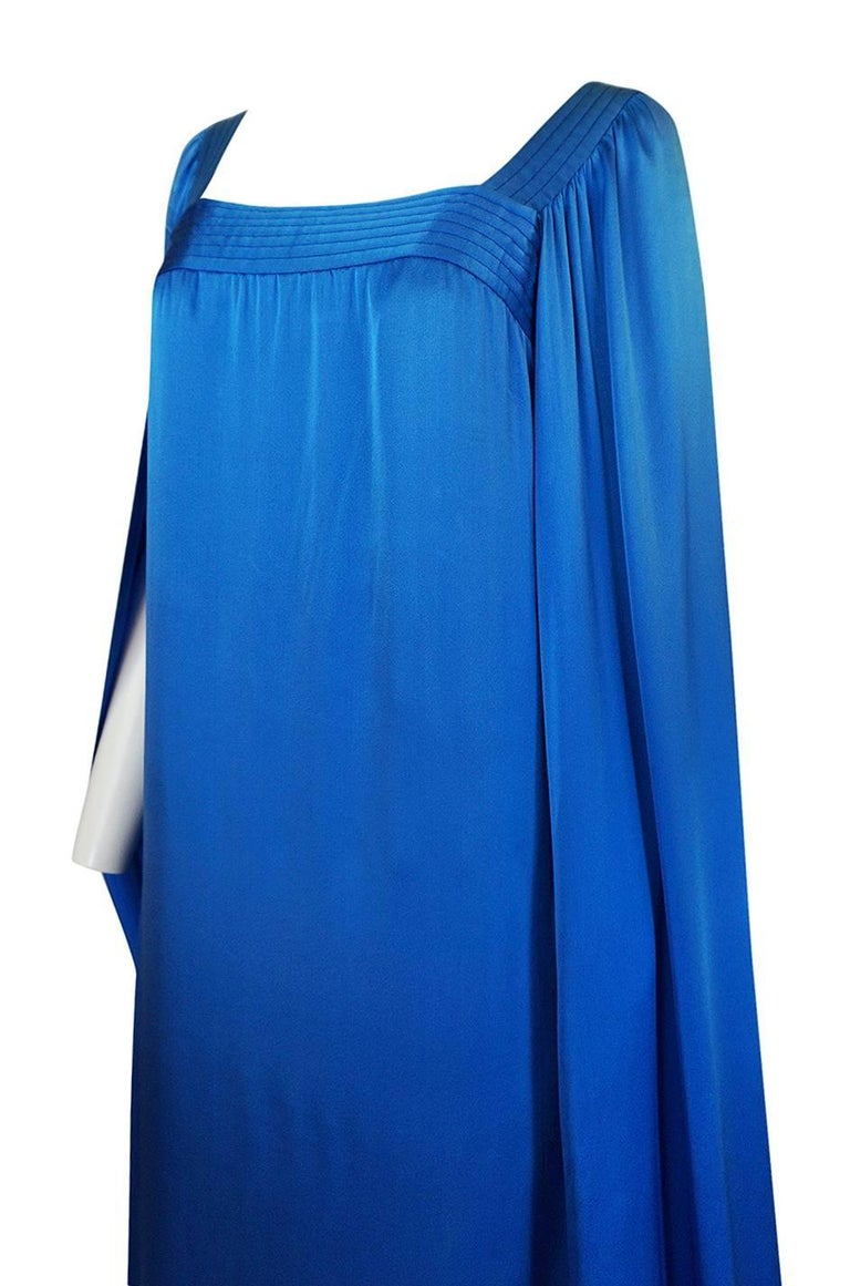Christian Dior by Marc Bohan Haute Couture Silk Angel Sleeve Dress, Fall 1978  For Sale 1