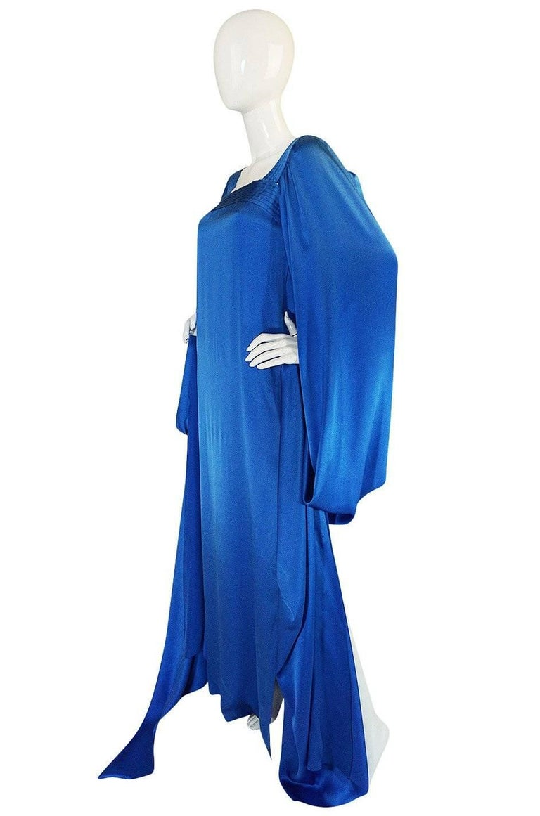 Christian Dior by Marc Bohan Haute Couture Silk Angel Sleeve Dress, Fall 1978  For Sale 7