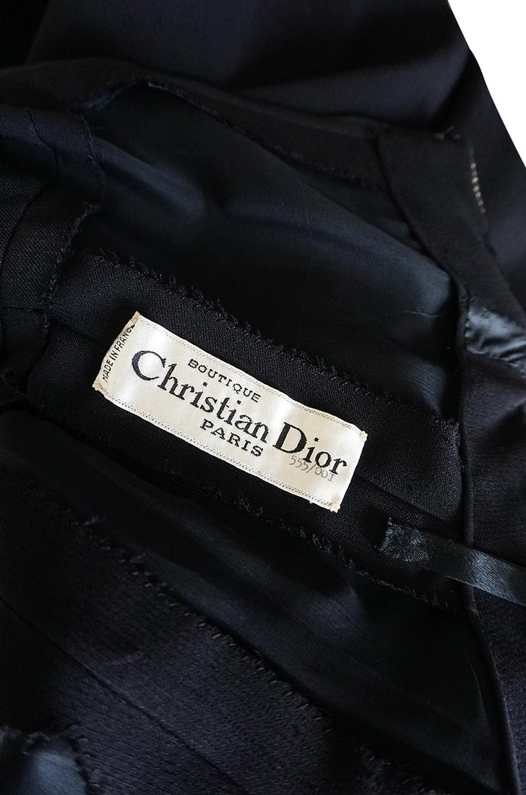 1960s Christian Dior Numbered Demi-Couture Dress w Crystal Straps For Sale 7