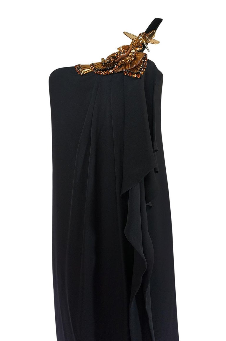 Women's Pre-Fall 2012 Gucci Embellished One Shoulder Ad Campaign Dress For Sale