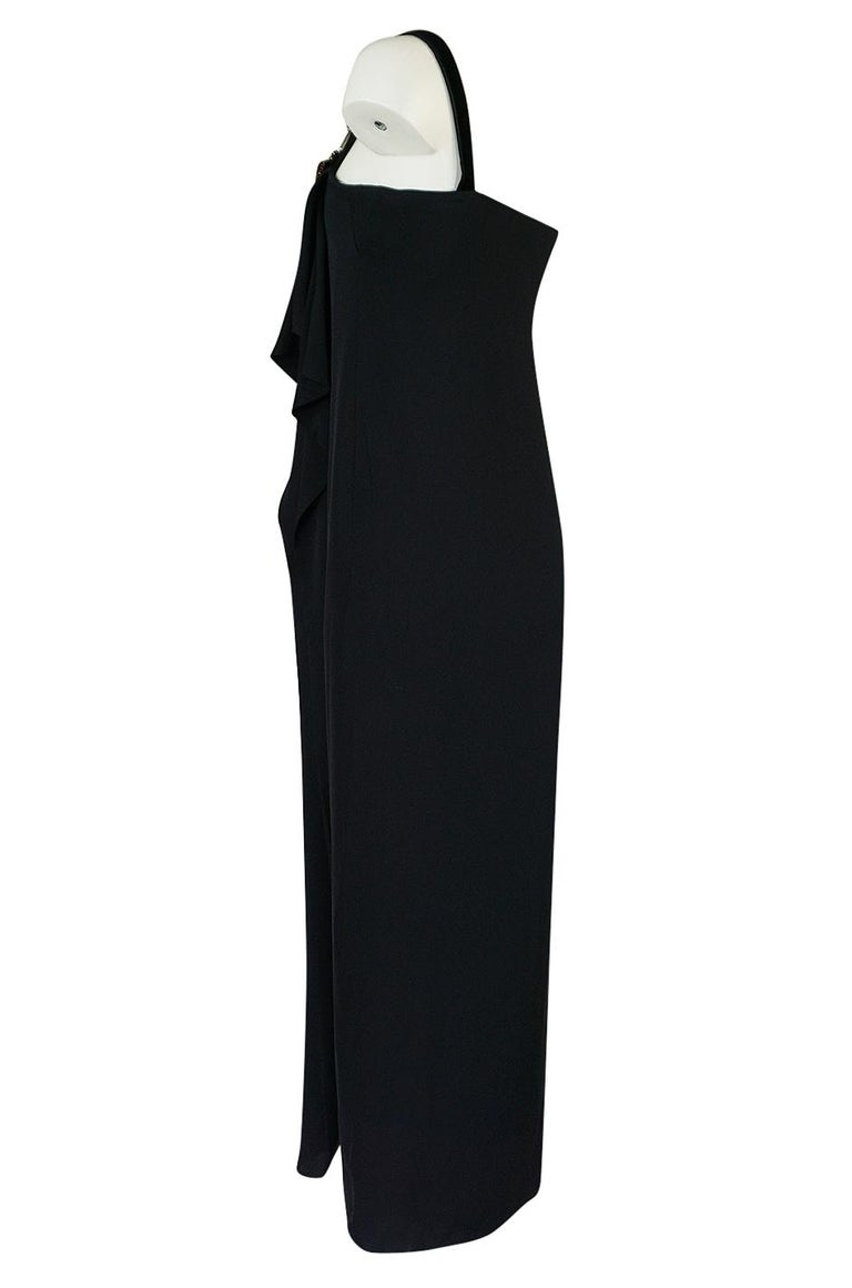 Pre-Fall 2012 Gucci Embellished One Shoulder Ad Campaign Dress In Excellent Condition For Sale In Rockwood, ON