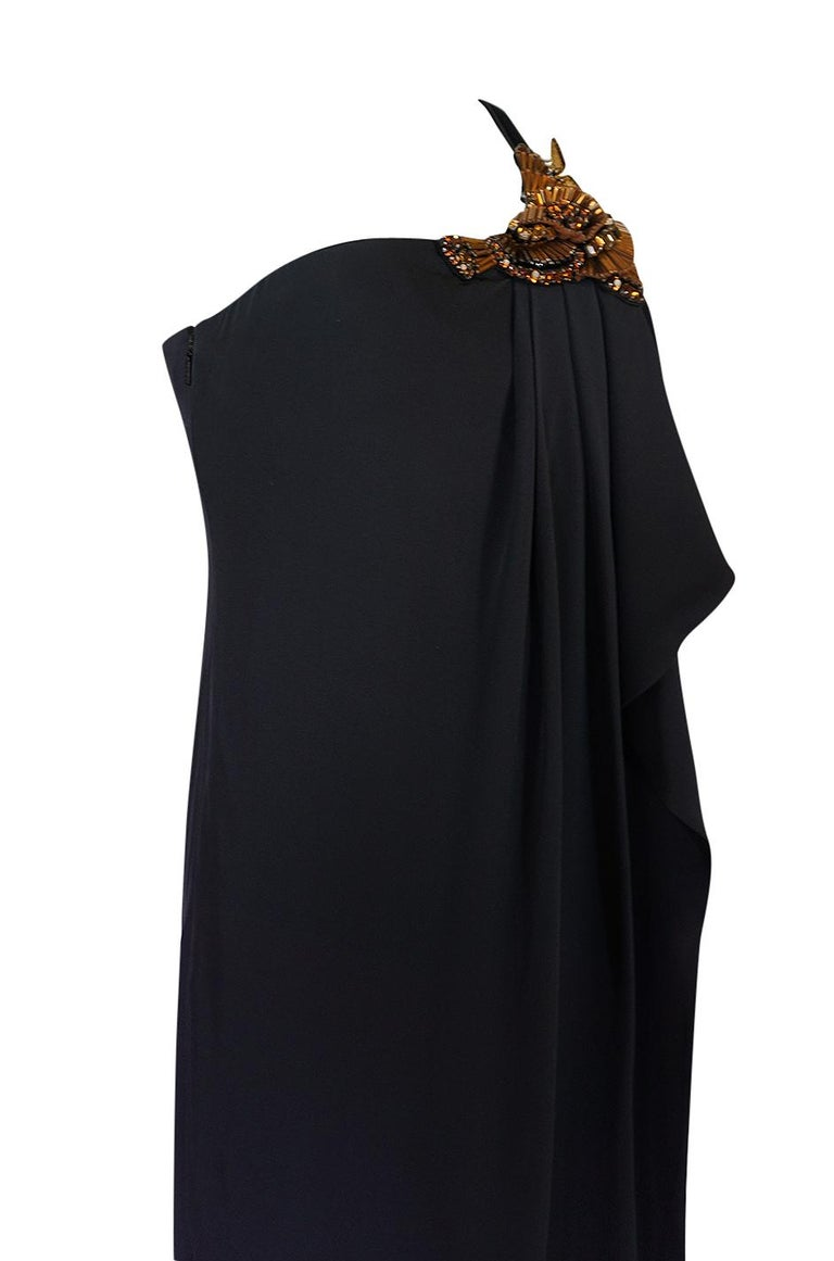 Pre-Fall 2012 Gucci Embellished One Shoulder Ad Campaign Dress For Sale 1