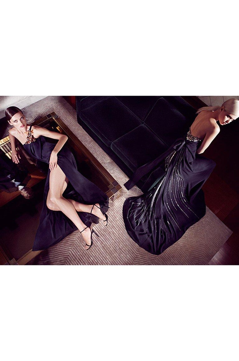 Pre-Fall 2012 Gucci Embellished One Shoulder Ad Campaign Dress For Sale 10