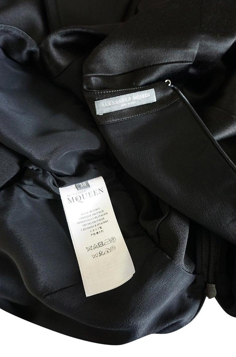 Recent Alexander McQueen Kimono Sleeve Black & White Silk Dress For Sale 5