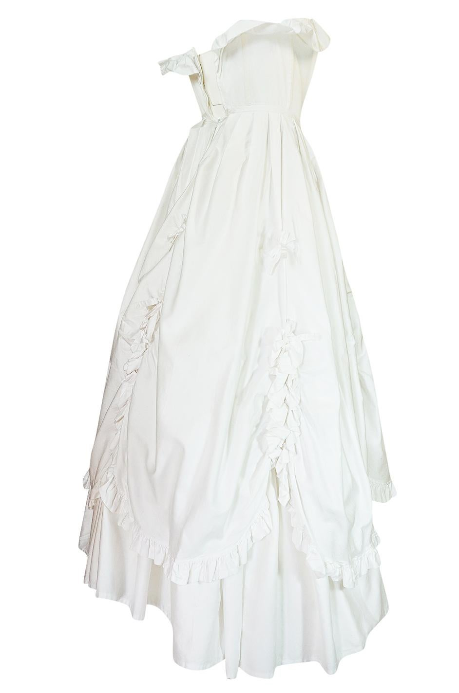 1985 laura ashley crisp white cotton strapless bow dress for sale at Christmas Evening Dresses 1985 laura ashley crisp white cotton strapless bow dress for sale at 1stdibs