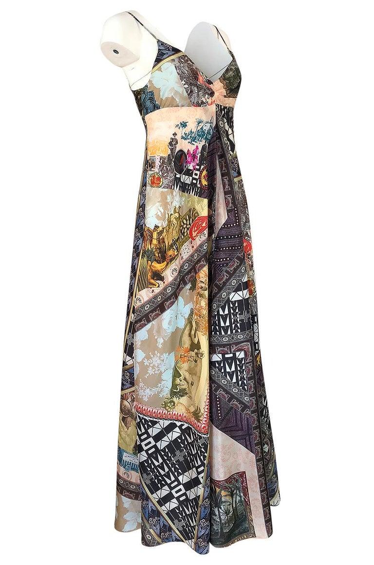Black S/S 2006 Christian Lacroix RTW Runway Look 61 Silk Halter Dress For Sale