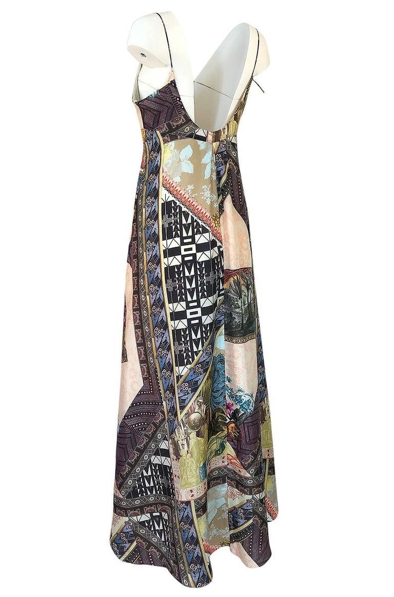 Women's S/S 2006 Christian Lacroix RTW Runway Look 61 Silk Halter Dress For Sale