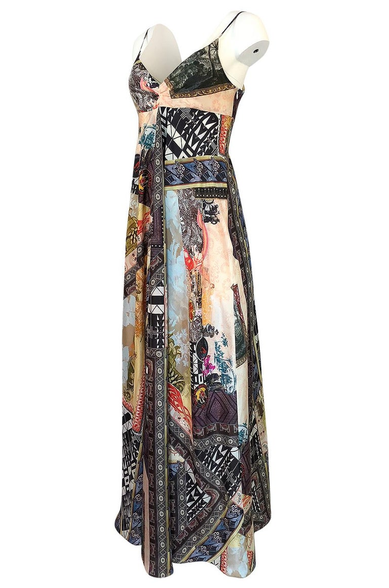 S/S 2006 Christian Lacroix RTW Runway Look 61 Silk Halter Dress In Excellent Condition For Sale In Rockwood, ON