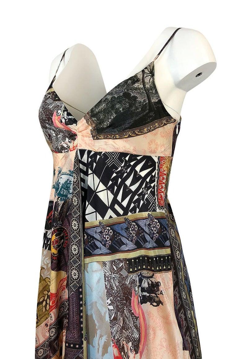 S/S 2006 Christian Lacroix RTW Runway Look 61 Silk Halter Dress For Sale 2