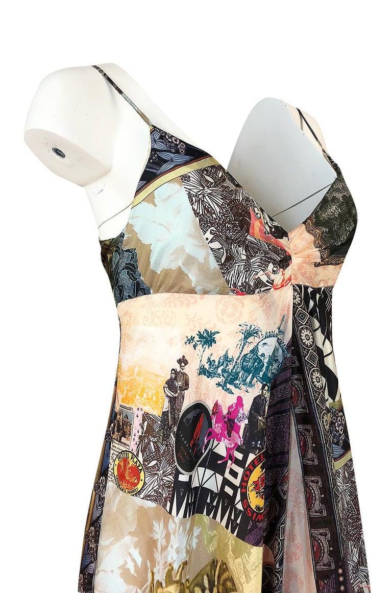 S/S 2006 Christian Lacroix RTW Runway Look 61 Silk Halter Dress For Sale 3