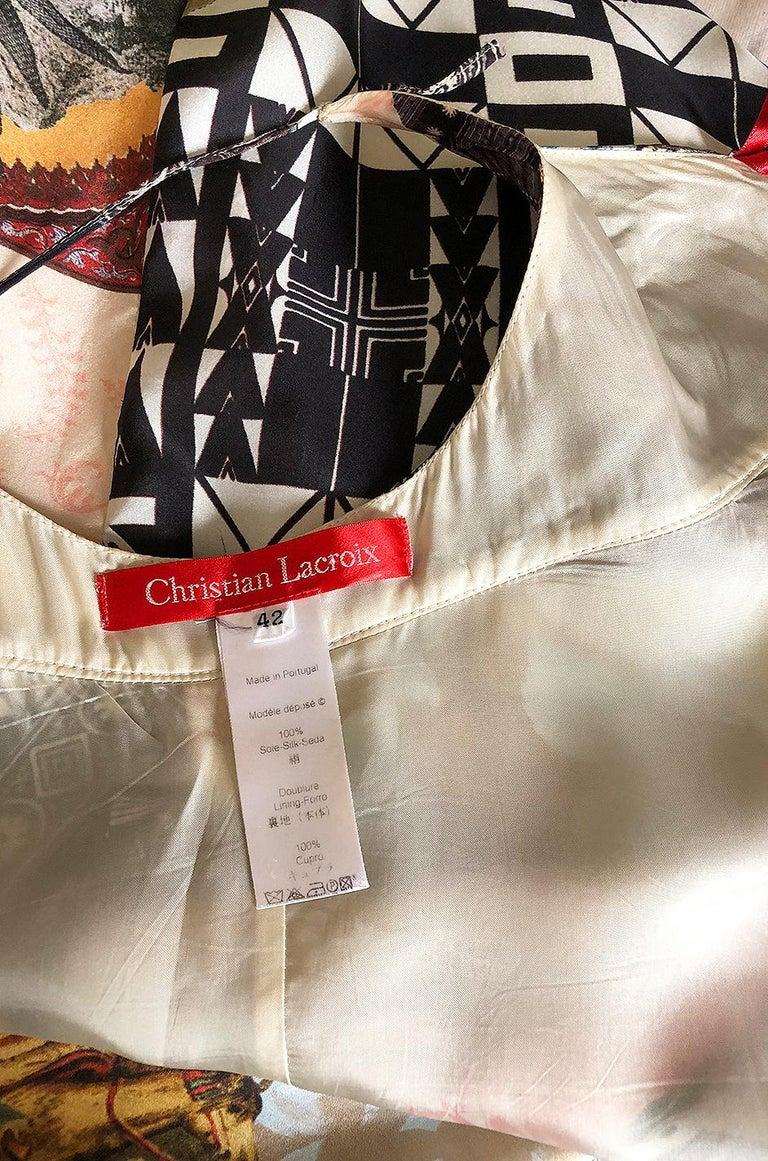 S/S 2006 Christian Lacroix RTW Runway Look 61 Silk Halter Dress For Sale 4