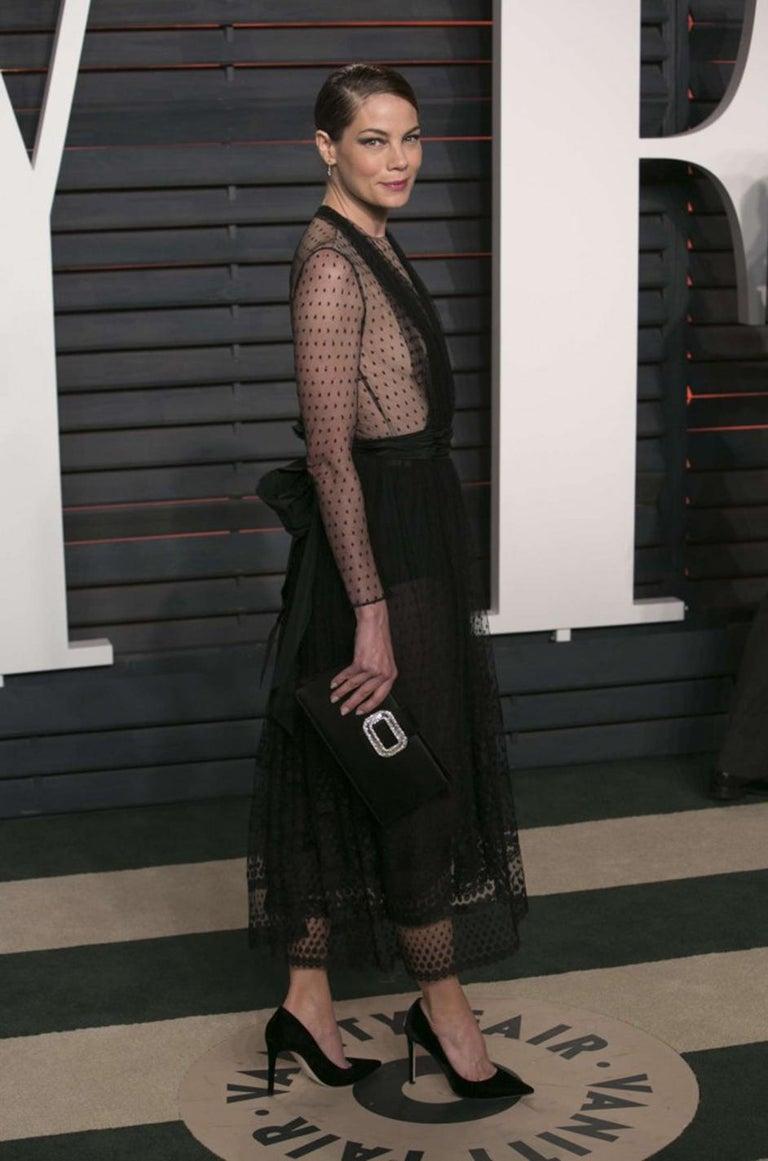 Bill Blass Couture Black Silk Swiss Dot Net Dress, 1978 For Sale 9