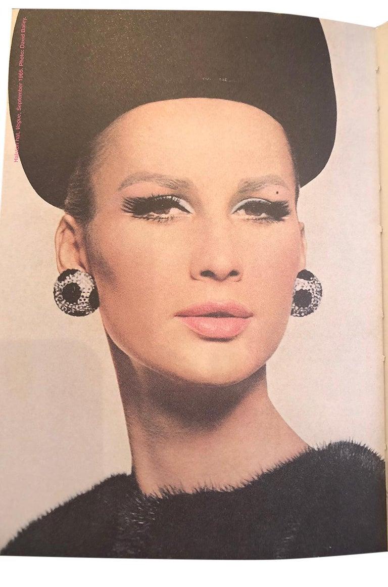 Rare c.1965 Haslton for Bergdorf Goodman's Velvet Novelty Hat For Sale 3