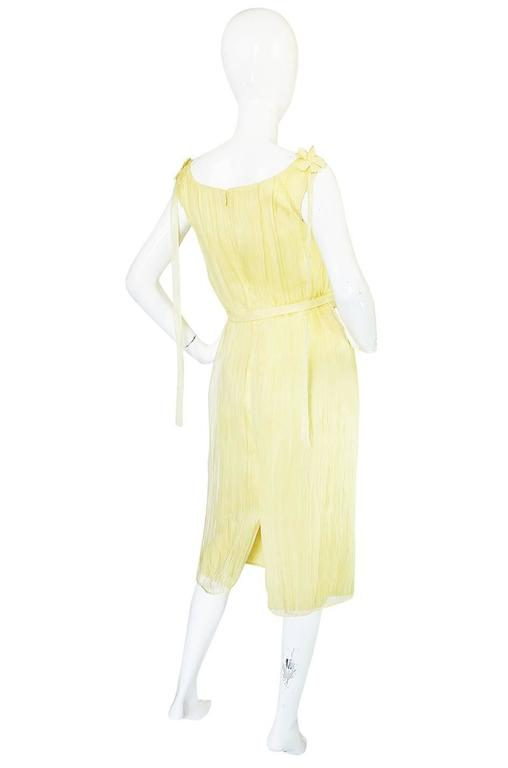 F/W 2005 Alexander McQueen Documented Runway Yellow Silk Dress 2