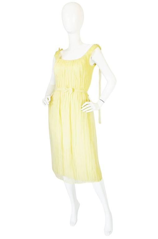 F/W 2005 Alexander McQueen Documented Runway Yellow Silk Dress 3