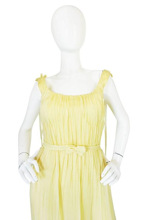 F/W 2005 Alexander McQueen Documented Runway Yellow Silk Dress 4
