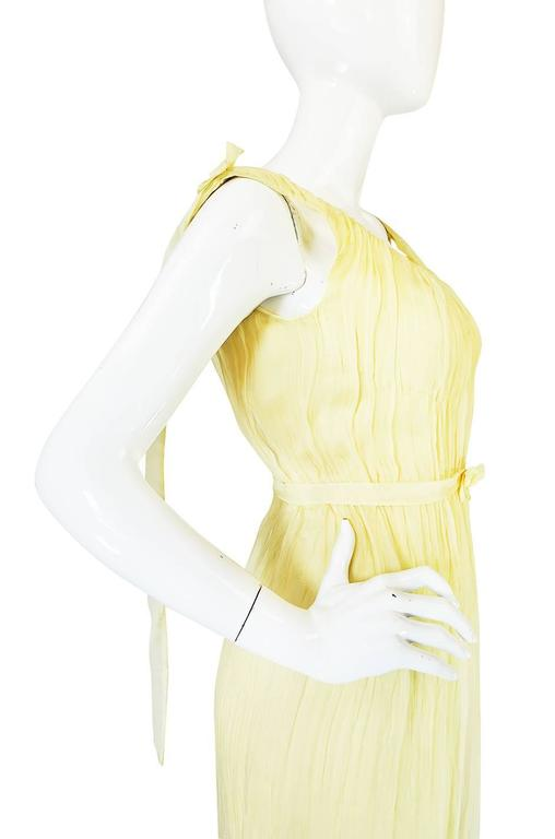 F/W 2005 Alexander McQueen Documented Runway Yellow Silk Dress 6