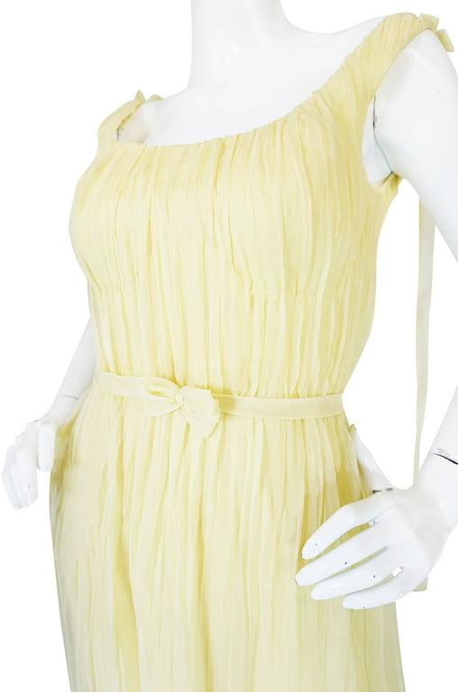 F/W 2005 Alexander McQueen Documented Runway Yellow Silk Dress 9