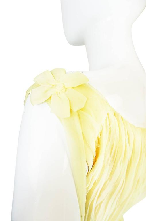 F/W 2005 Alexander McQueen Documented Runway Yellow Silk Dress 5