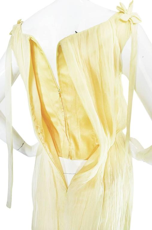 F/W 2005 Alexander McQueen Documented Runway Yellow Silk Dress 10