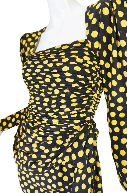 1980s Joan Rivers Owned Ungaro Silk Dot Dress For Sale 3