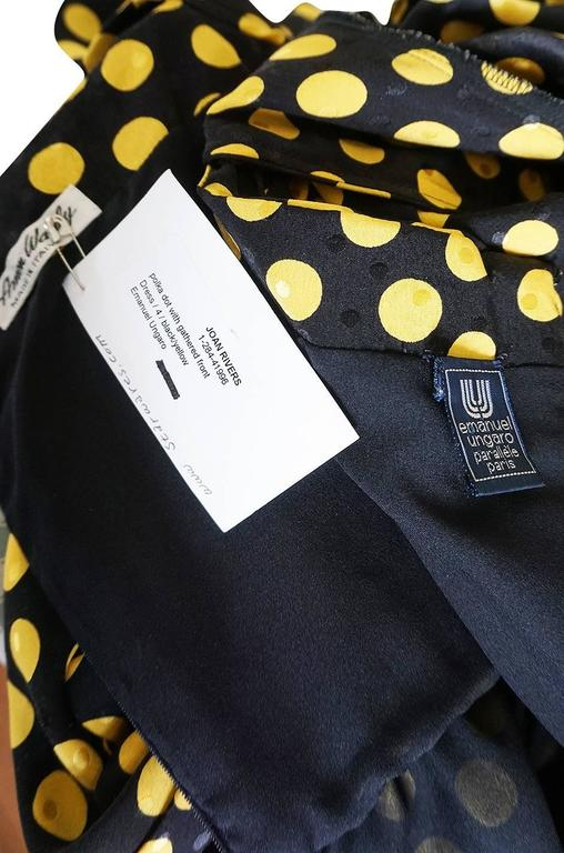 1980s Joan Rivers Owned Ungaro Silk Dot Dress For Sale 4