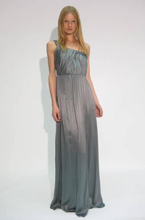 Pre-Fall 2008 Stella McCartney One Shoulder Silk Chiffon Dress 8