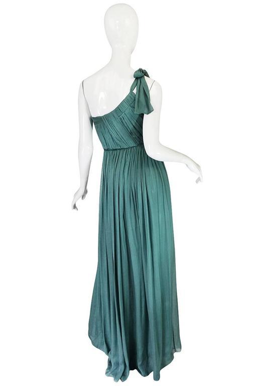Pre-Fall 2008 Stella McCartney One Shoulder Silk Chiffon Dress 2