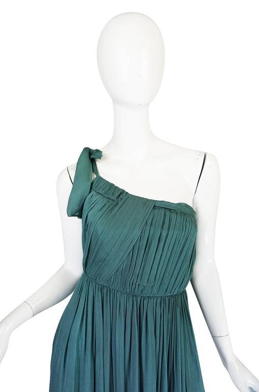 Pre-Fall 2008 Stella McCartney One Shoulder Silk Chiffon Dress 4