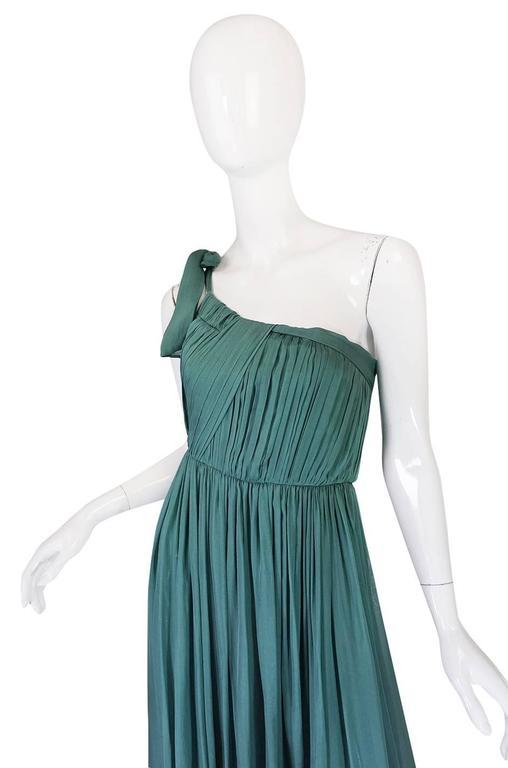 Pre-Fall 2008 Stella McCartney One Shoulder Silk Chiffon Dress 3