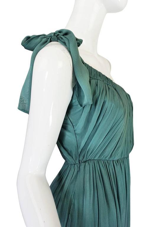 Pre-Fall 2008 Stella McCartney One Shoulder Silk Chiffon Dress 5