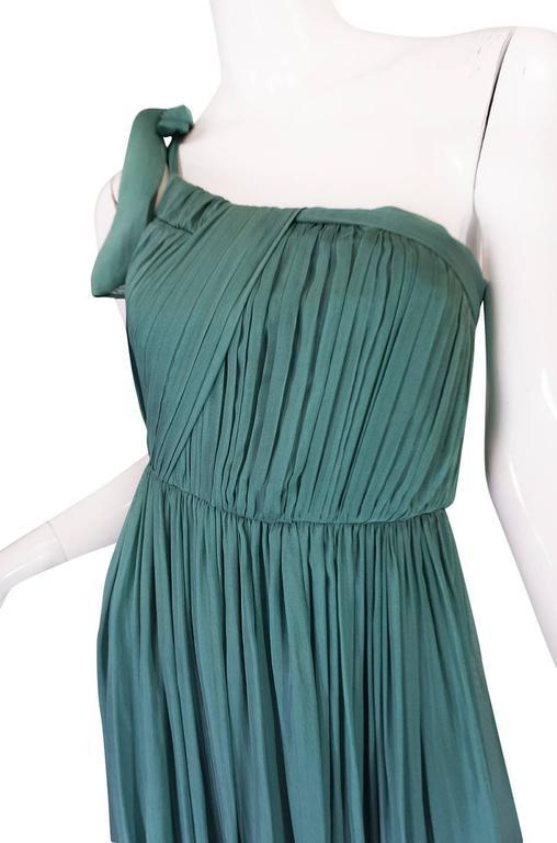 Pre-Fall 2008 Stella McCartney One Shoulder Silk Chiffon Dress 7