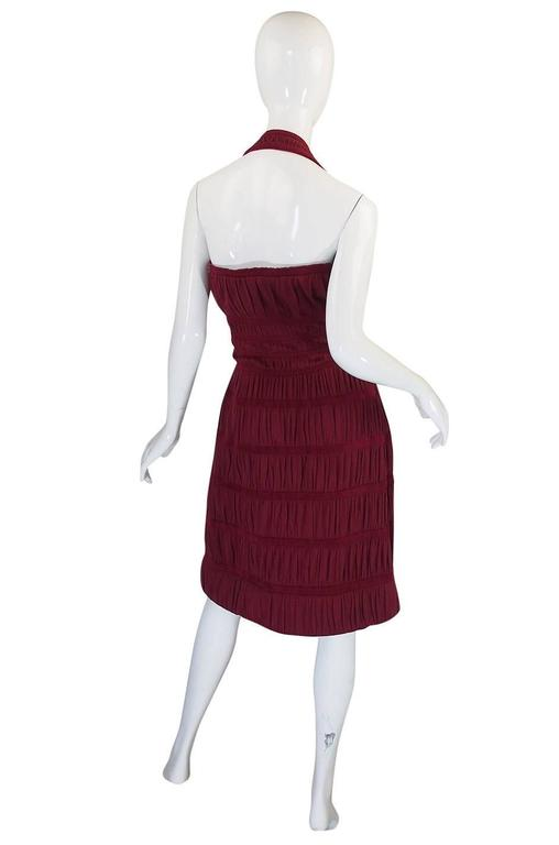 Red F/W 2009 Collection Ribbed Azzedine Alaia Silk Knit Dress For Sale